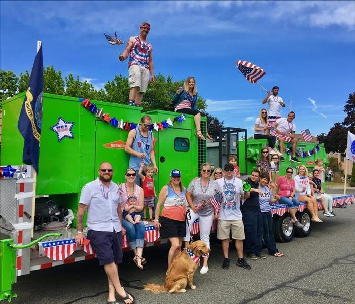 SERVPRO of Edmonds Marches in the 4th of July Parade